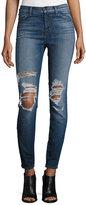 J Brand Maria High-Waist Skinny Jeans, Decoy Destruct