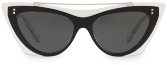 Valentino VA4041 Solid Blue 53MM Cat Eye Sunglasses