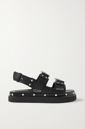 3.1 Phillip Lim Alix Studded Leather Slingback Platform Sandals - Black