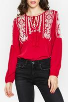 Sugar Lips Sugarlips Embroidered Peasant Top