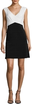 Adrianna Papell Women's Colorblocked Panel Flare Dress