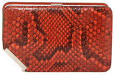 Bally Corner Frame Snake Embossed Leather Clutch