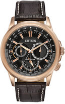 Citizen Eco-Drive Calendrier Mens Brown Leather Strap Watch BU2023-04E