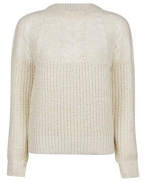 Dorothy Perkins Womens Dp Petite Ivory Cable Jumper