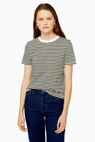 Selected Womens **Green Perfect Stripe T-Shirt By Green