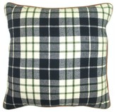 "Threshold Blue Plaid 18""x18"" Pillow"