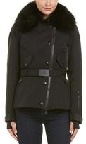 Moncler Sappey Down Fur Trim Coat.