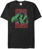 Fifth Sun Men's Tee Shirts BLACK - Black Hulk 'Strong Dad' Tee - Men