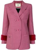 Fendi check double-breasted blazer