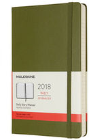 Moleskine NEW 2018 Large Elm Green Hardcover Daily Diary