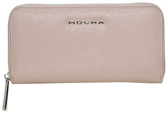 Mocha Kristi Leather Wallet - Taupe