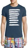 Orlebar Brown Center Striped Short-Sleeve T-Shirt, Navy/White