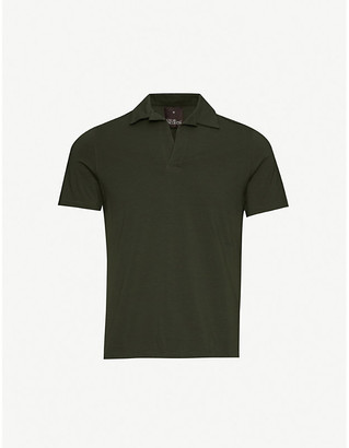Oscar Jacobson Cornelis stretch-cotton polo shirt