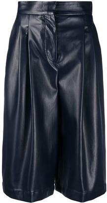 Philosophy di Lorenzo Serafini Faux Leather Knee-Length Shorts