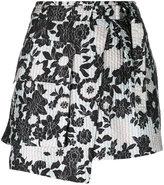 Christian Wijnants asymmetric floral print skirt