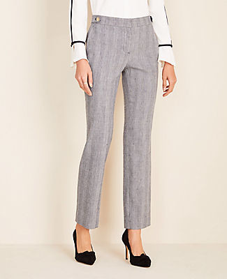 Ann Taylor The Petite Straight Pant in Herringbone - Curvy Fit