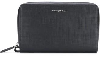 Ermenegildo Zegna Logo Plaque Clutch Bag