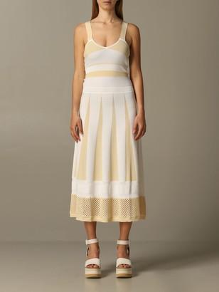 Pinko Long Lipari Sleeveless Knit Dress