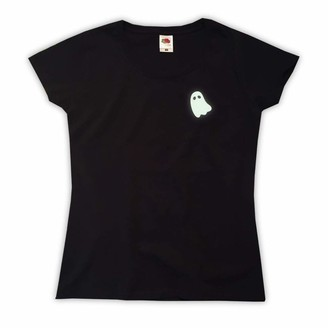 Outsider. Women's Glow in The Dark Ghost T-Shirt - Black - Large