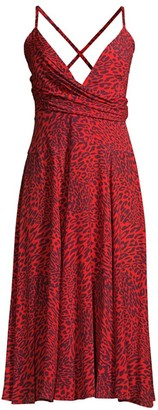 Fame & Partners The Montego Stretch Print Fit & Flare Dress