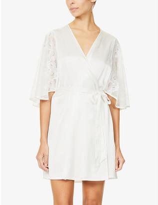 Nk Imode Anoushka silk-satin and lace robe