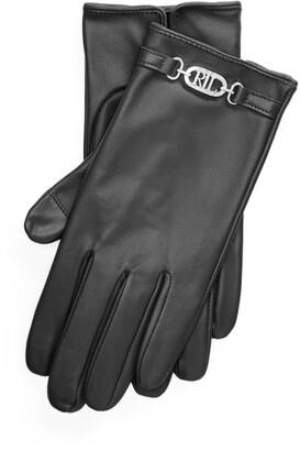 Ralph Lauren Logo Sheepskin Tech Gloves