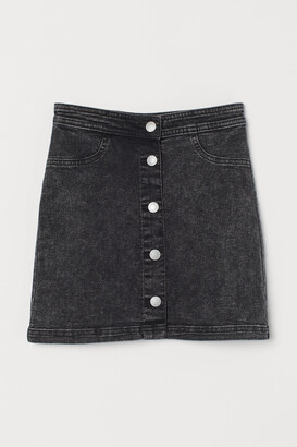 H&M Button-front Twill Skirt