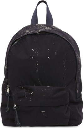 Maison Margiela Hand Painted Cotton Canvas Backpack