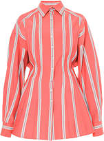 Carolina Herrera Oversized Striped Poplin Shirt