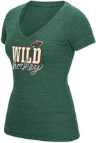 Reebok Women's Minnesota Wild Laced Up T-Shirt