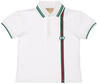 Gucci Stretch Cotton Pique Polo Shirt