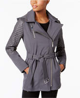 MICHAEL Michael Kors Asymmetrical Quilted-Sleeve Trench Coat