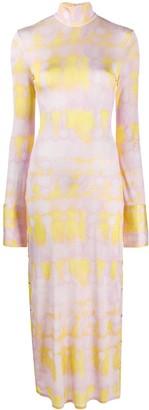 Ellery Tie-Dye Print Side Buttoned Dress