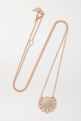 Piaget Sunlight 18-karat Rose Gold, Opal And Diamond Necklace