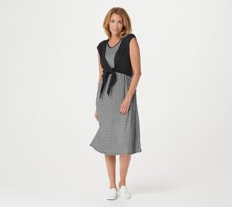 Cuddl Duds Flexwear Tie-Front Maxi Dress