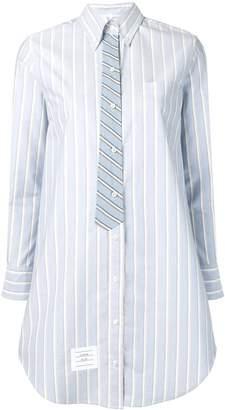 Thom Browne Trompe L'Oeil Tie Tricolour Shirtdress