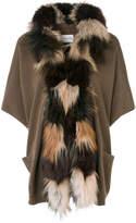 Yves Salomon fox fur trim cardigan