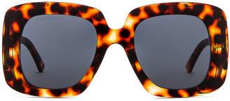 Balenciaga Oversize Square Sunglasses in Havana & Blue   FWRD