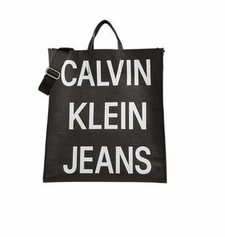 Calvin Klein Coated Logo Shopper Tote Mens Top-Handle Bag