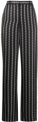 Theory Chain Print Wide-Leg Trousers