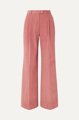 Acne Studios Pina Cotton-blend Corduroy Wide-leg Pants - Antique rose