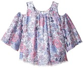 Ella Moss Izzy Printed Chiffon Top (Big Kids)