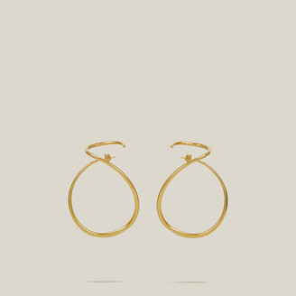Charlotte Chesnais Gold Gold-Tone Looping Earrings
