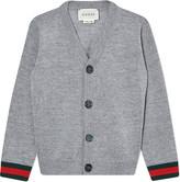 Gucci Web stripe wool cardigan 6-36 months