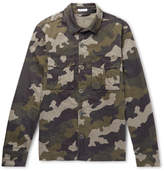 Tomas Maier Slim-fit Camouflage-print Stretch-cotton Overshirt - Green