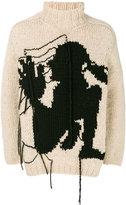 Yohji Yamamoto embroidered sweater