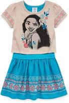 Disney Short Sleeve Moana A-Line Dress - Toddler