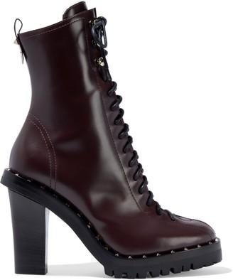 Valentino Garavani Studded Leather Ankle Boots