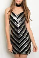 Verty Black Sequins Dress