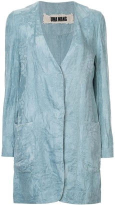 UMA WANG Floral Pattern Long Jacket